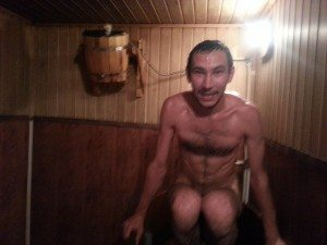 "Dim the crazy russian about to jump into the ""cold-tub"""