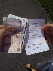 the note and money