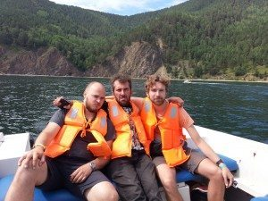 Boating on lake Baikal