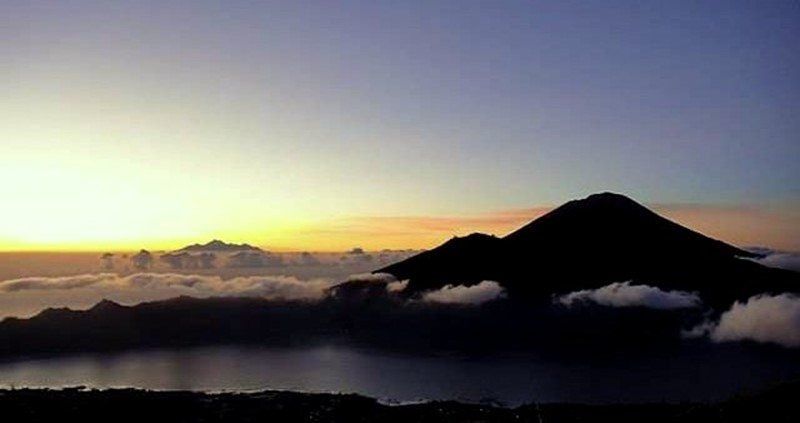 mt. batur bali sunrise