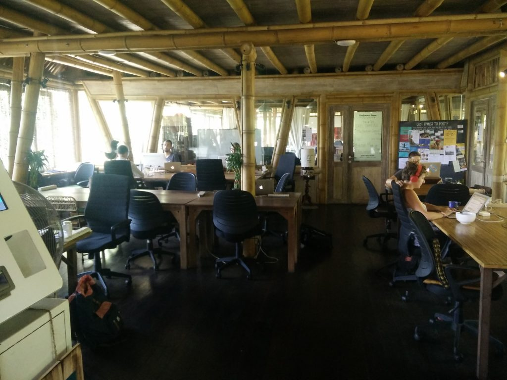 hubud co-working space in ubud