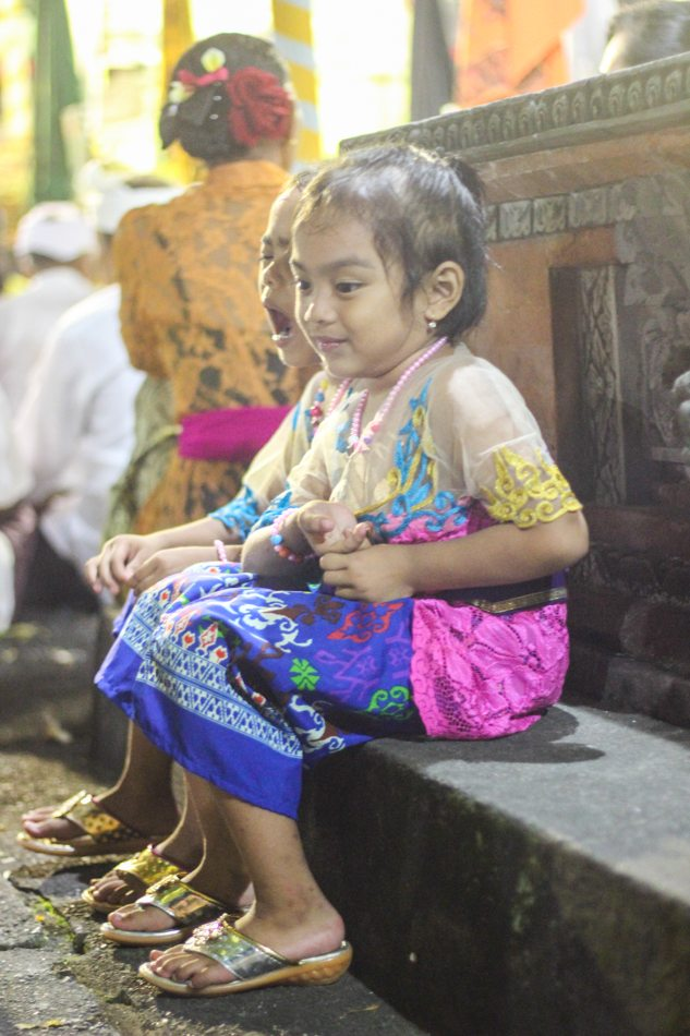 kids at bali full moon ceremony ubud