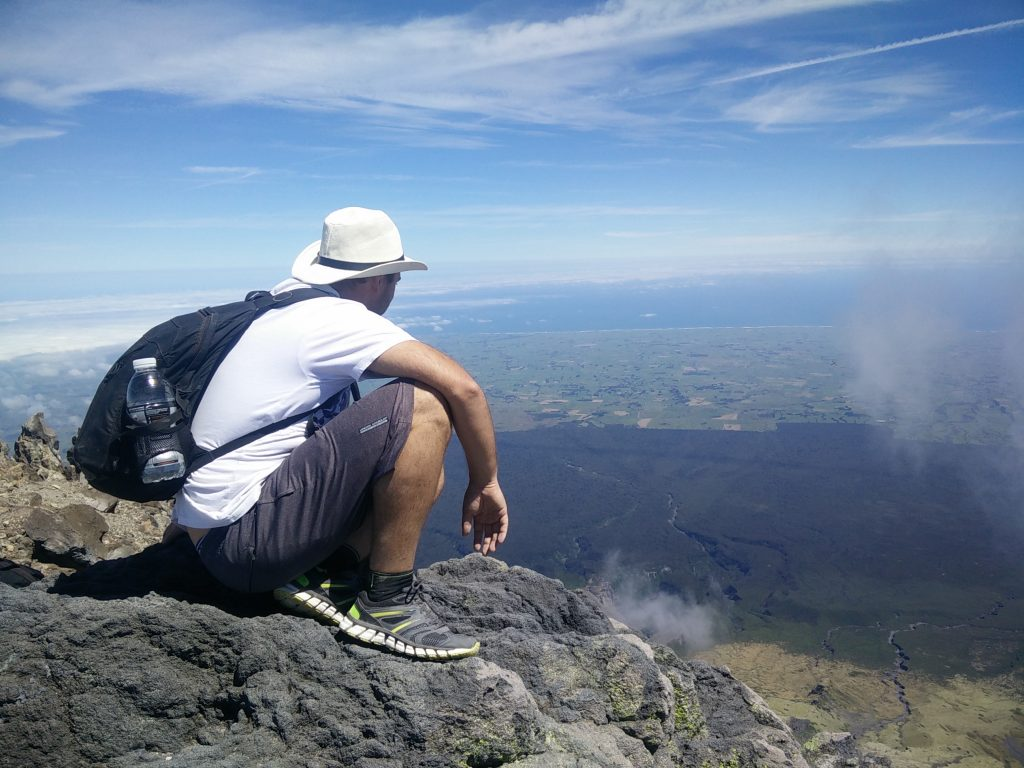 climbing mount taranaki in new zealand